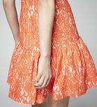 Warehouse, BONDED LACE PEPLUM DRESS Orange 4