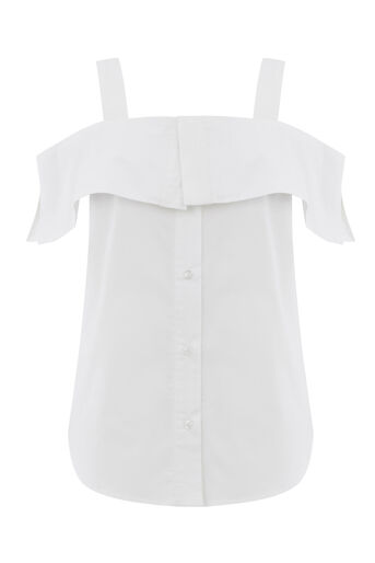Warehouse, BUTTON THROUGH COTTON CAMI White 0