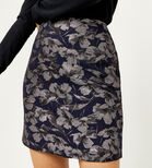 Warehouse, FLORAL JACQUARD PELMET SKIRT Multi 4