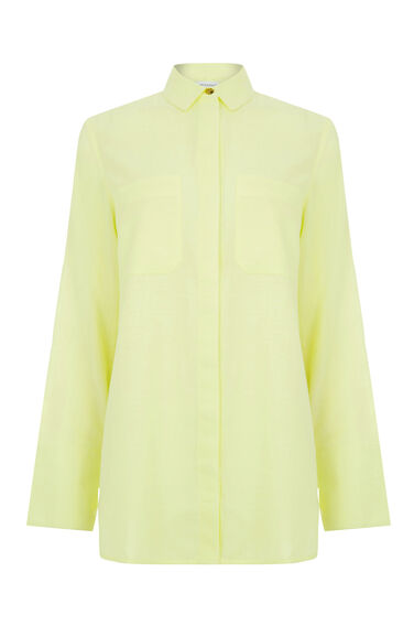 Warehouse, RELAXED TWIN POCKET SHIRT Yellow 0