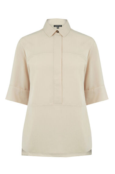 Warehouse, Seam Detail Shirt Cream 0