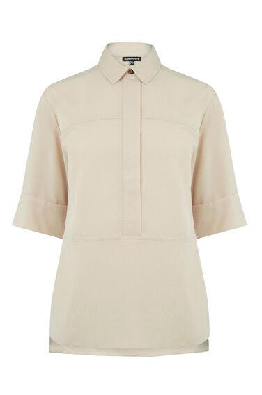 Warehouse, Seam Detail Shirt Cream 0