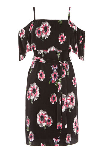 Warehouse, OCEAN FLORAL PLISSE DRESS Multi 0
