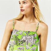 Warehouse, TIGER PRINT CAMI Green Print 1