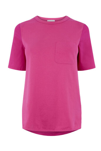 Warehouse, COTTON BACK POCKET TEE Bright Pink 0