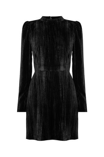 Warehouse, VELVET DRESS Black 0