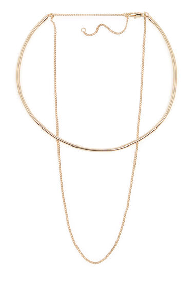 Warehouse, CHOKER AND CHAIN NECKLACE Gold Colour 0