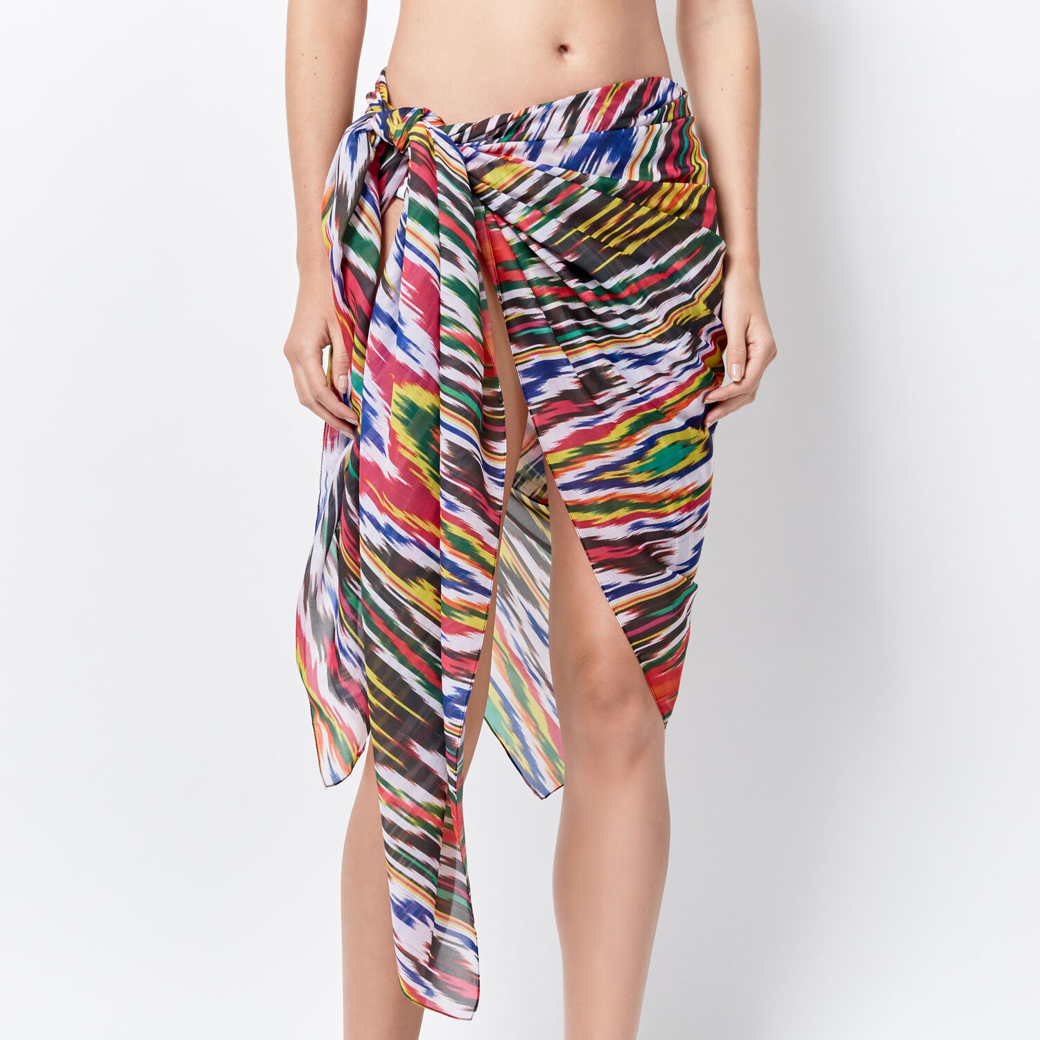 Warehouse, IKAT PRINT 3 WAY COVER UP Multi 1