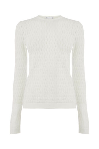 Warehouse, CURVE STITCH JUMPER Cream 0