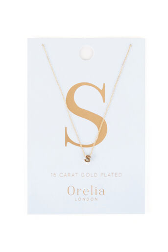 Warehouse, ORELIA INITIAL NECKLACE S Gold Colour 0