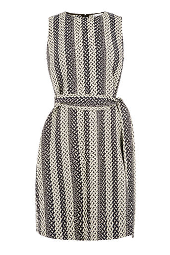 Warehouse, LINK JACQUARD DRESS Multi 0