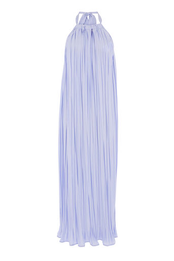 Warehouse, CRINKLE HALTERNECK DRESS Lilac 0