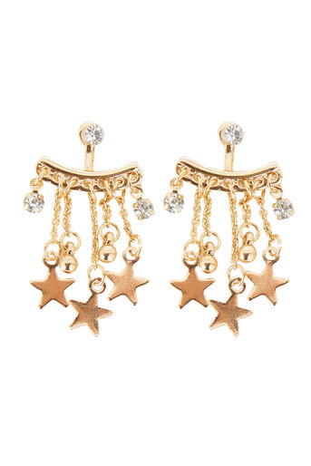Warehouse, STAR DROP EAR JACKET Gold Colour 0