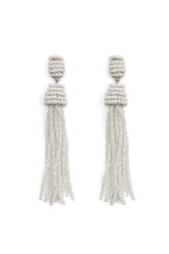 Warehouse, TASSEL EARRINGS White 0