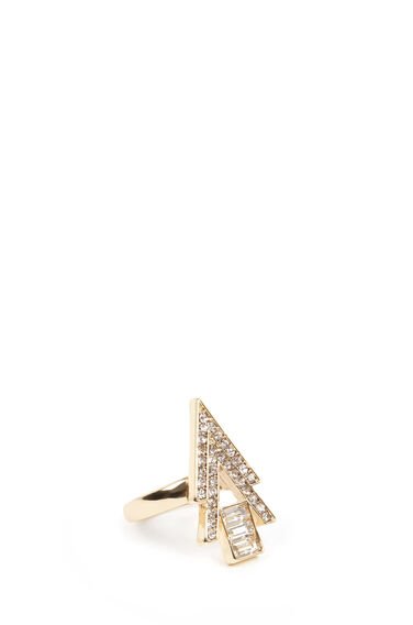 Warehouse, Statement Diamante Ring Gold Colour 0