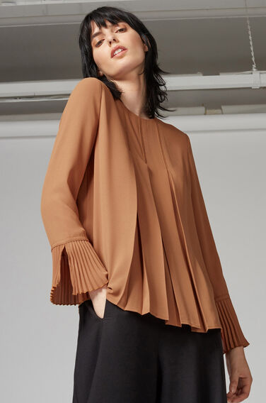 Warehouse, BOX PLEAT TOP Tan 0