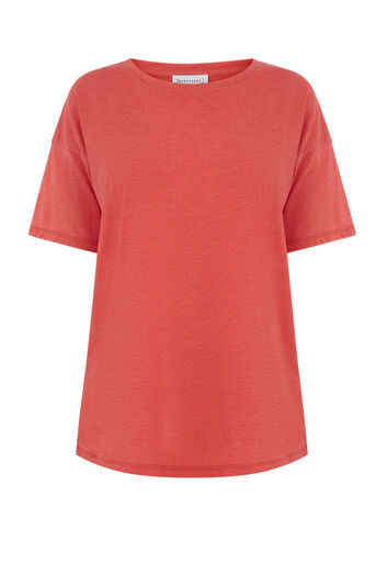 Warehouse, Casual T-shirt Lichtrood 0