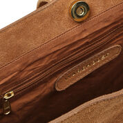 Warehouse, SUEDE SLOUCHY BAG Tan 4