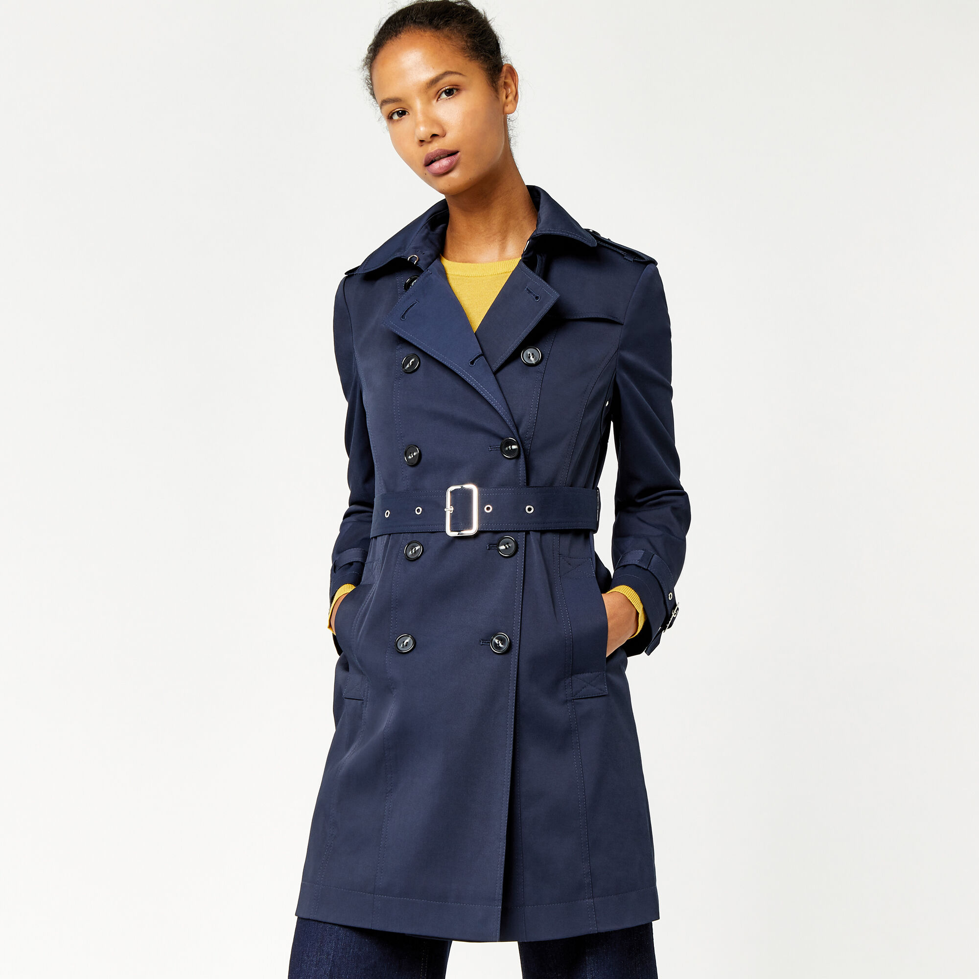 Warehouse, Classic Trench Navy 1