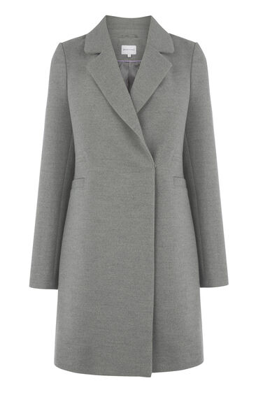 Warehouse, Smart Tailored Coat Light Grey 0