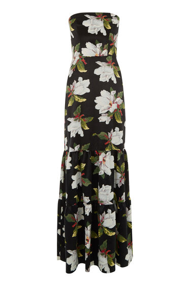 Warehouse, MAGNOLIA STRAPLESS MAXI DRESS Multi 0