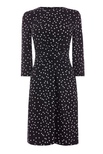 Warehouse, POLKA DOT PRINT CREPE DRESS Multi 0