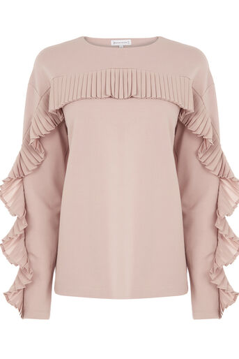 Warehouse, FRILL SWEAT Light Pink 0