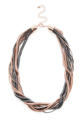 Warehouse, SNAKE CHAIN TWIST NECKLACE Copper Colour 0