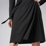 Warehouse, BELTED WRAP DRESS Black 4
