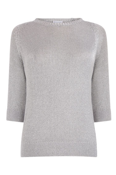 Warehouse, METALLIC TOP Silver Colour 0