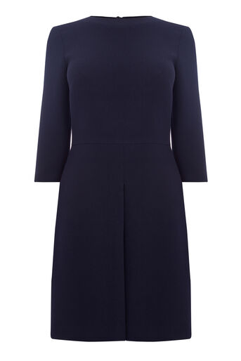 Warehouse, PLEAT FRONT DRESS Navy 0
