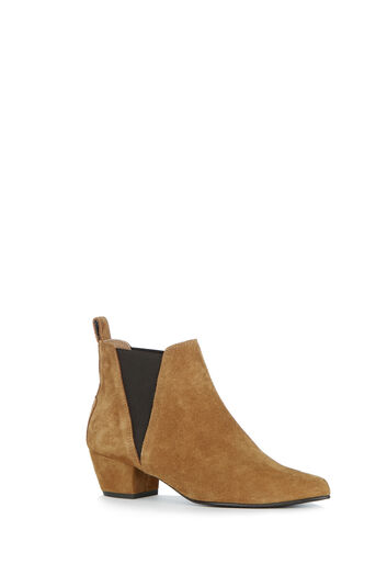 Warehouse, SUEDE ANKLE BOOT Camel 0