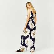Warehouse, MELODY FLORAL JUMPSUIT Blue Pattern 3