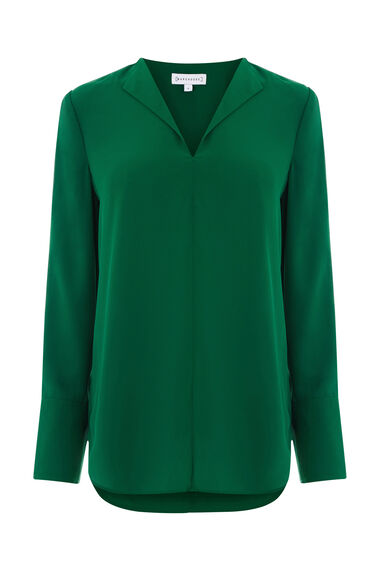 Warehouse, SPLIT SLEEVE BLOUSE Bright Green 0