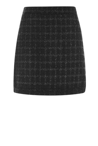 Warehouse, SPARKLE TWEED SKIRT Black 0