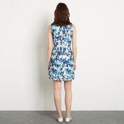 Warehouse, Shadow Leaf Textured Dress Multi 3