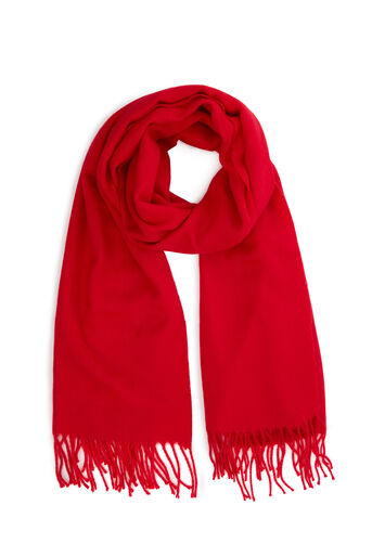 Warehouse, SOFT PLAIN SCARF Bright Red 0
