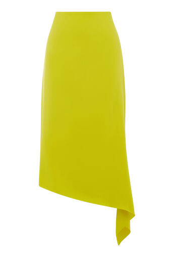 Warehouse, ASYMMETRIC SKIRT Yellow 0