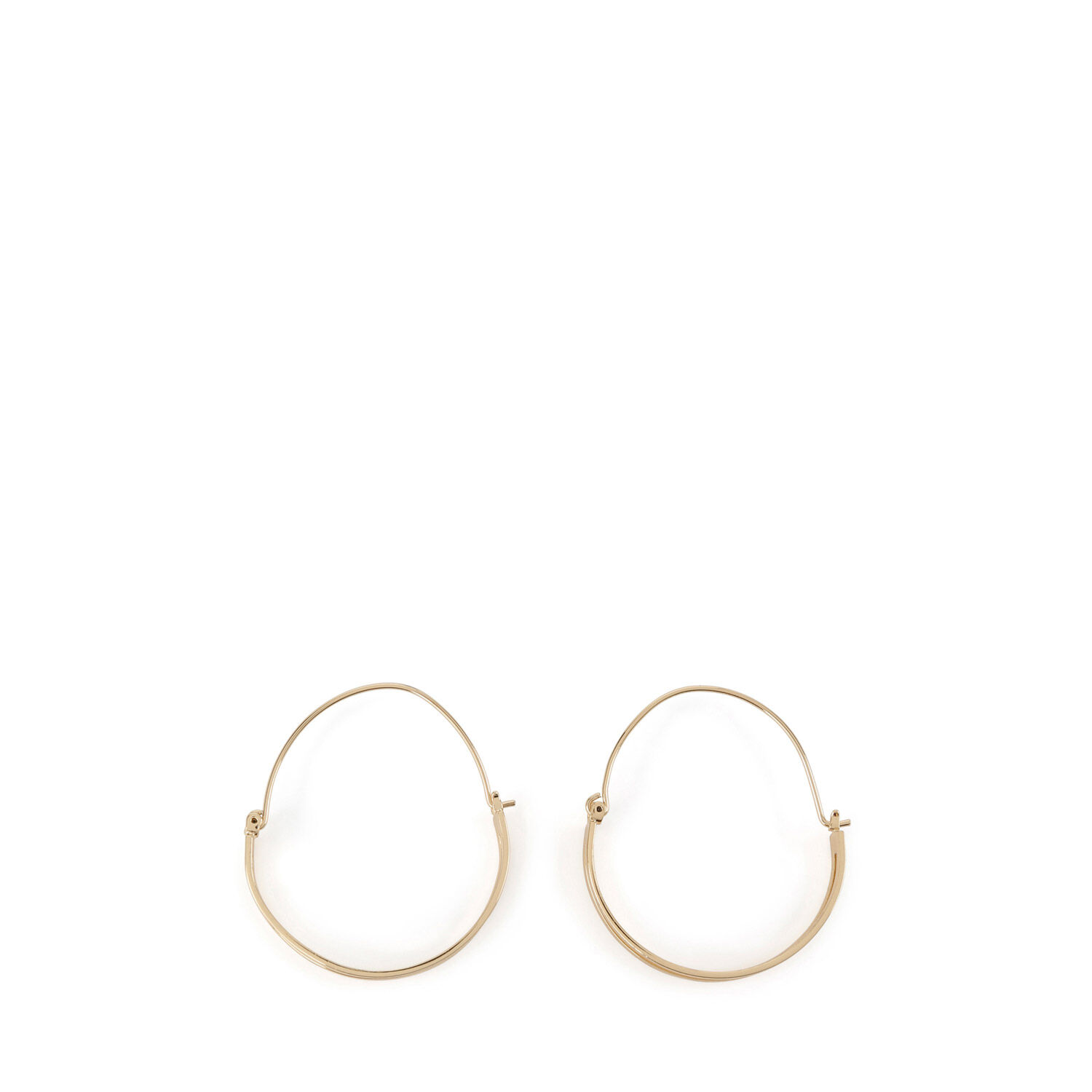 Warehouse, DOUBLE WIRE HOOP EARRINGS Gold Colour 0