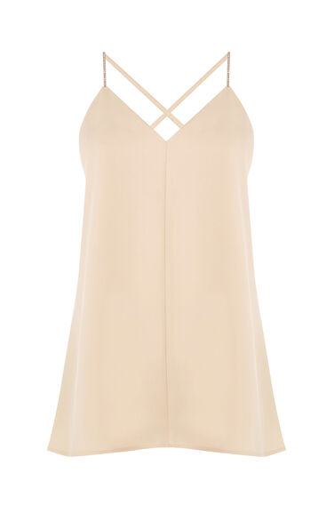 Warehouse, DIAMANTE CAMI Beige 0