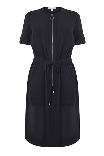 Warehouse, CASUAL UTILITY DRESS Navy 0