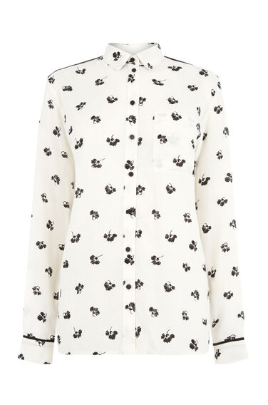 Warehouse, DANDY MONO SHIRT Neutral  Print 0