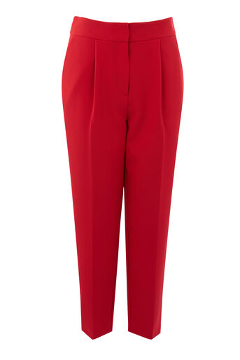 Warehouse, CREPE PEG TROUSER Bright Red 0