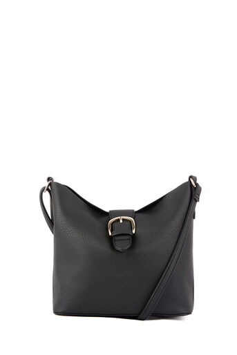 Warehouse, BUCKLE TAB CROSSBODY BAG Black 0