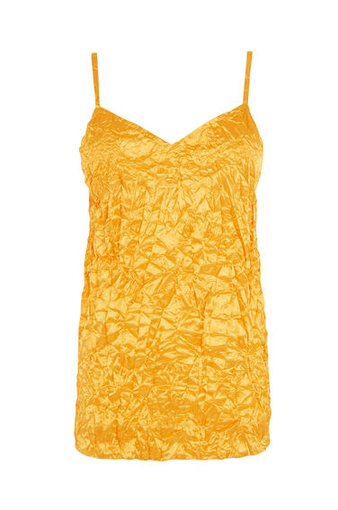 Warehouse, CRINKLE CAMI TOP Yellow 0