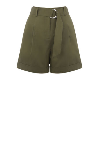 Warehouse, D RING CASUAL SHORT Khaki 0