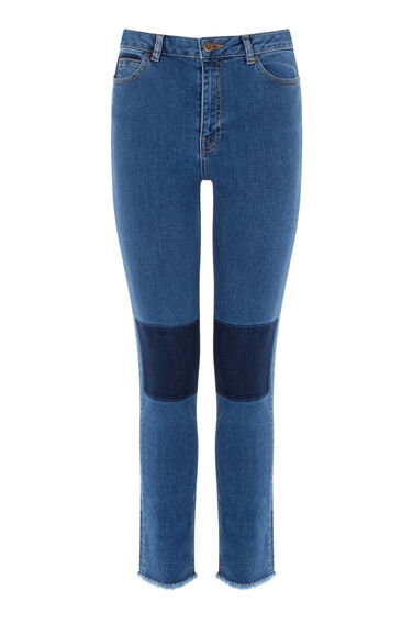 Warehouse, Shadow Pocket Skinny Jeans Mid Wash Denim 0
