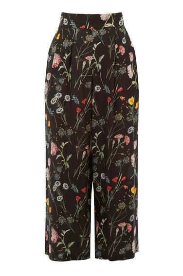 Warehouse, Scatter Floral Culotte Black Pattern 0
