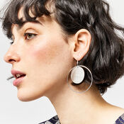 Warehouse, CIRCLE AND DISC EARRINGS Silver Colour 1