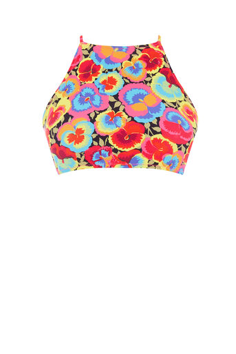 Warehouse, PANSY POP HIGH NECK BIKINI TOP Multi 0